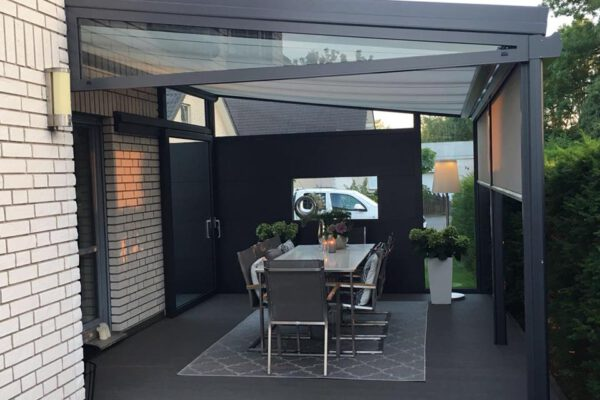 D & F luxuriöse Aluminium Terrassenüberdachung