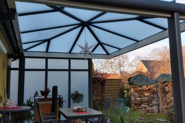 D & F edle Terrassenüberdachung aus Aluminium